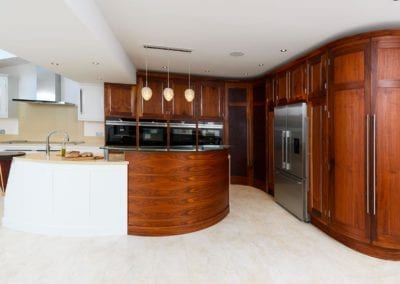 Bespoke Kitchen Walnut Painted Framed at The Monkhams Woodford Green 1