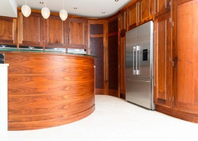 Bespoke Kitchen Walnut Painted Framed at The Monkhams Woodford Green 16