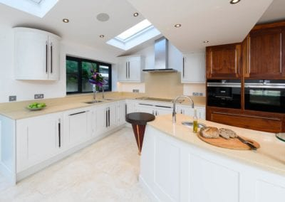 Bespoke Kitchen Walnut Painted Framed at The Monkhams Woodford Green 5